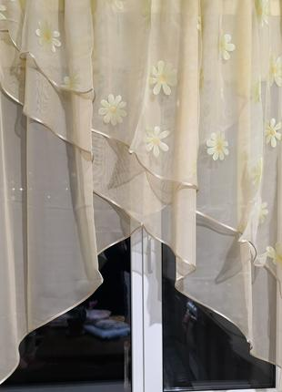 Занавеска штора тюль три угла