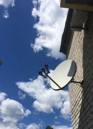 Спутниковое ТВ. Установка спутниковых антенн и Т2.