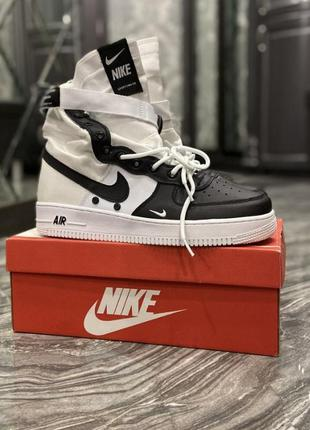 Кроссовки nike air force special field white black