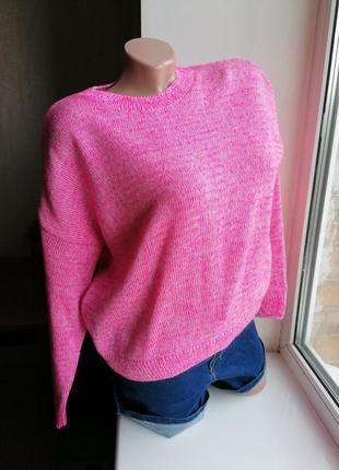 Розовый свитер оверсайз oversize new look к086