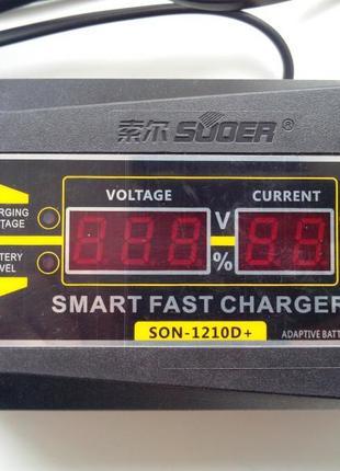 Автомобильное зарядное устройство Suoer SON-1210D 10A 12В