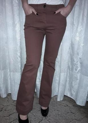 Брюки (джинсы-клеш) marks&spencer терракотового цвета