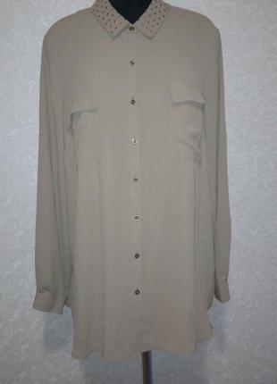 Блуза с декорированным воротничком marks & spencer