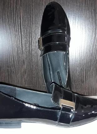 Лаковые туфли-лоферы zara