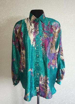 Блуза с принтом птицы