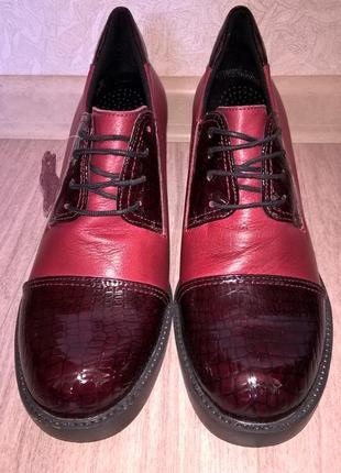 Туфли на широком каблуке alta brezza