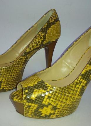 Итальянские туфли с открытым носиком emanuele gelmetti