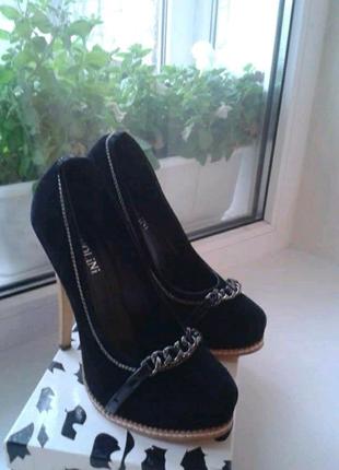 Туфли лодочки под замш