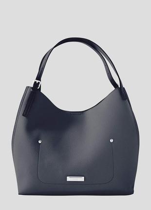 Синяя сумка с серебристым переливом orsay