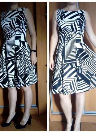 """Платье """"колокольчик"""" черно-белое, нарядное платье"""