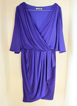 Платье на запах фиолетовое biba (к054)