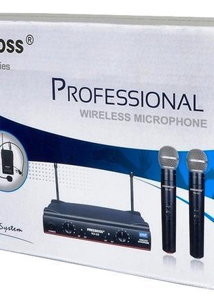 Радиомикрофон FREEBOSS KU 22 UHF радио микрофон беспроводной
