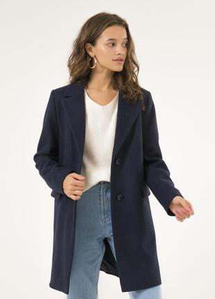 Женское осеннее пальто season синего цвета
