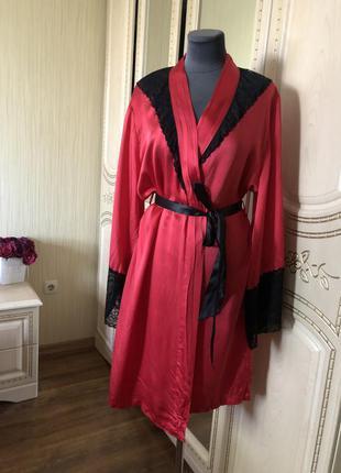 Невероятно роскошный шелковый халат, натуральный шелк шёлк, фр...