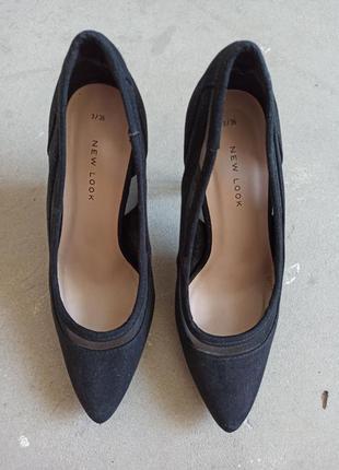 Классические туфли лодочки с острым носком бренда new look р.36