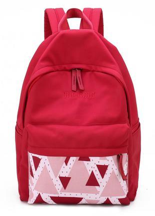 Рюкзак, городской рюкзак, красный. треугольник.