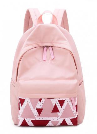 Рюкзак, городской рюкзак, розовый. треугольник.