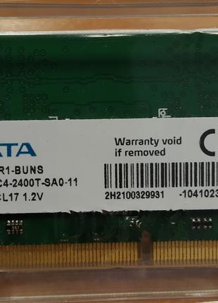Оперативная память для ноутбука DDR4 4Gb ADATA