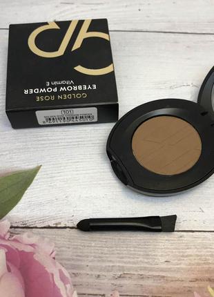 Тени для бровей golden rose eyebrow powder 101 к. 1113