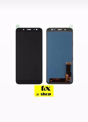Дисплей Samsung J600 GalaxyJ6(2018)с сенсором (тачскрином)черный