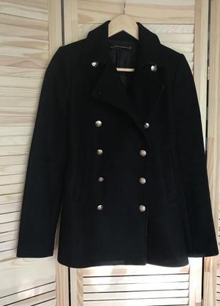 Пальто женское стильное (весеннее, осеннее) zara, размер xs-s