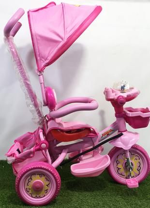 Велосипед детский трехколесный Panda розовый