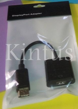 Конвертер переходник с DP(DisplayPort) на HDMI  ( DP-интерфейс )