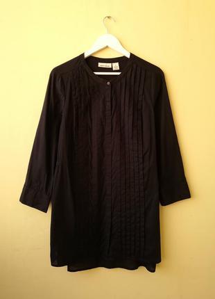 Платье-рубашка dkny jeans из 100% хлопка иссиня-черного цвета ...