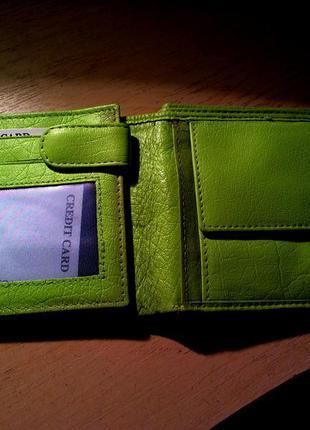 Кожаный кошелек женский