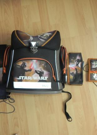 Ортопедический рюкзак 4 в 1 STAR WARS / Звездные войны (SCOOLI)