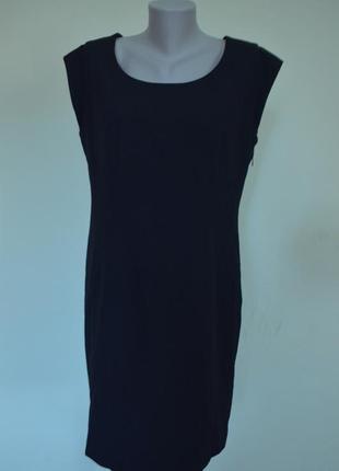 Шикарное классическое черное платье базовая вещь шерсть 44%