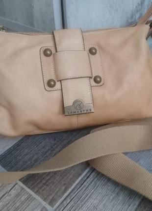 Кожаная сумка с длинным ремнем lamarthe