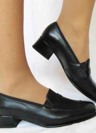 550. туфли-полуботинки ara кожа - 38 р. увеличенная полнота н1/2