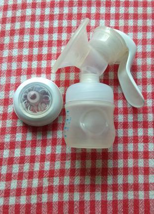 Ручний молоковідсмоктувач із пляшечкою Philips Avent
