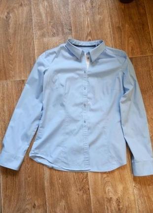 Стильная голубая женская рубашка esprit