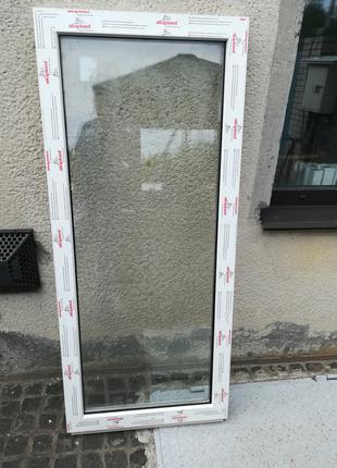 Окно металлопластиковое 640х1465 глухое из профиля Aluplast