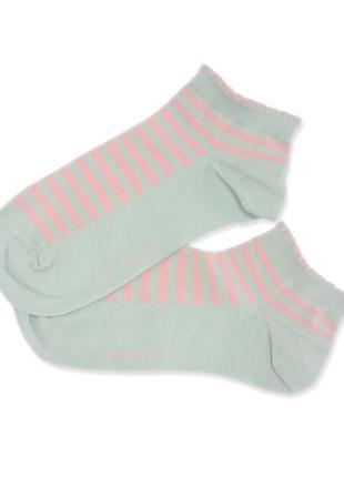 Женские укороченные хлопковые в розовую полоску носки atlantic...