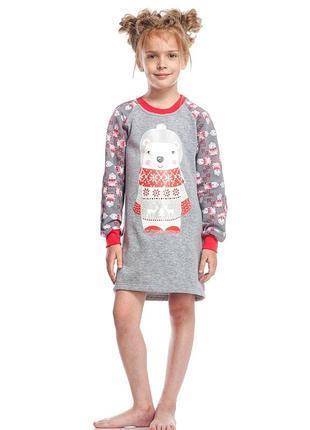Хлопковая домашняя сорочка для девочки с длинным рукавом ellen...