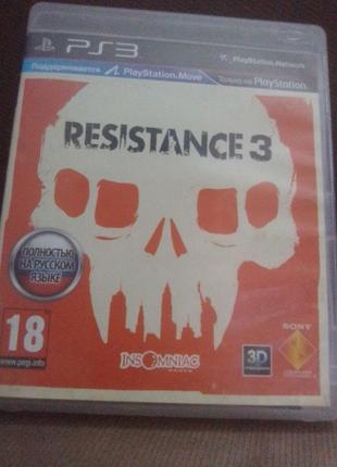 Диск Resistance 3 на Sony Playstation 3