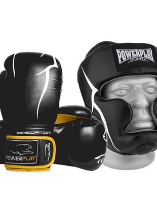 Перчатки боксерские + Шлем боксерский для бокса
