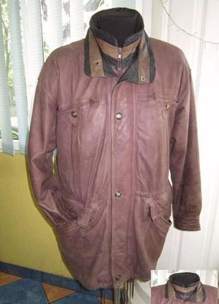 Большая утеплённая кожаная мужская куртка. германия. лот 642