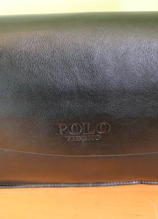 Сумка Через Плечо Polo VIdeng для документов A4 | Кожаная Мужская
