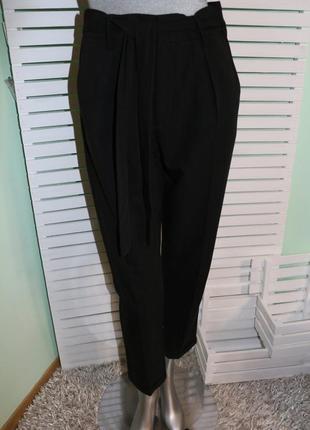Черные брюки штаны с высокой талией tally weijl