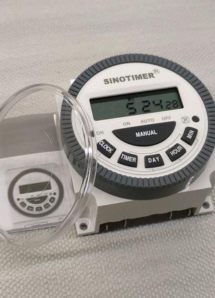 Таймер недельный Sinotimer 16 программ 220 вольт