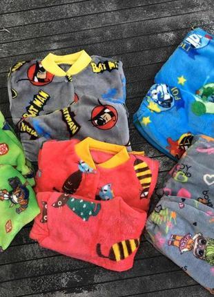 Махровые пижамы на 12-18 месяцев