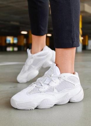 ❤ женские бежевые замшевые  кроссовки adidas yeezy boost 500 b...