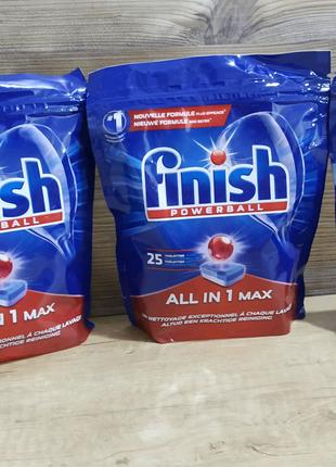 Таблетки Finish all in 1 Max (25шт)