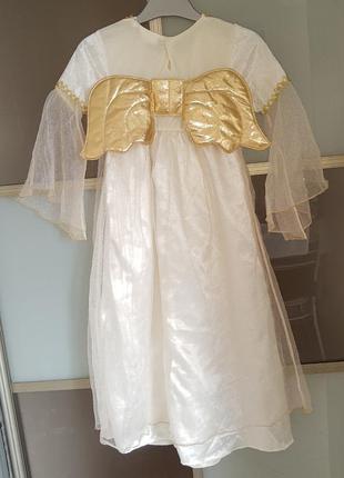 Карнавальный костюм платье ангелочка на 4-6 лет