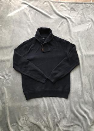 Мужской свитер джемпер вязаная кофта top secret xxl тёмно синяя