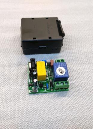 Приёмник одноканальный 433МГц 220 вольт